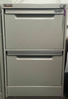 Two Drawer Metal Filing Cabinet, Lockable