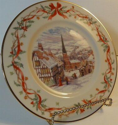 Lenox China 2001 Annual Christmas Plate Villages Around The World