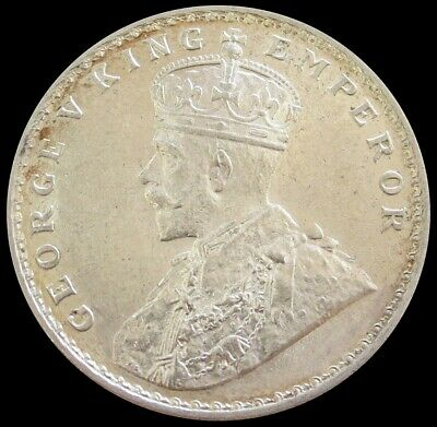 1916 Silver India British Rupee King George V Coin Mint State Condition
