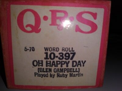 QRS piano roll-Oh Happy Day