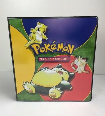 Wotc Pokemon Trading Card Game Ring Binder 1994 Nintendo with Pages Ultra Pro