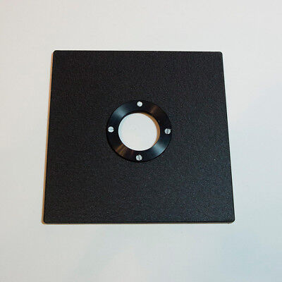 Sinar Lens Board(51/2 X 51/2) Copal #0 Hole with a Threaded Flange Mounted