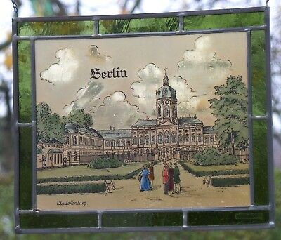 "LEADED GLASS WINDOW Image Bernhardt Stained "" Berlin Charlottenburg Palace """