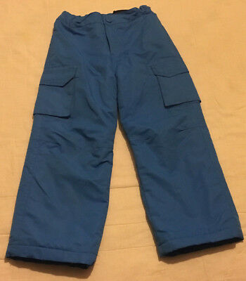 Youth Boys Girls Unisex  4T Toddler Blue Insulated Ski Snowboard Snow Pants