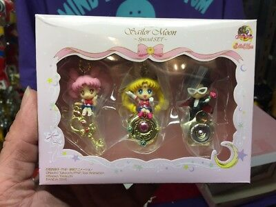 Sailor Moon Twinkle Dolly Special Set Keychain by Bandai NEW In Box!!