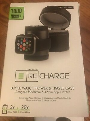 Techlink Recharge Portable Charger &Travel Case for Apple Watch 38mm/42mm
