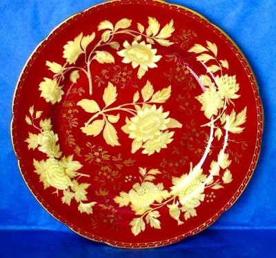 "Wedgwood Gorgeous TONQUIN RUBY 11"" Bone China Dinner Plate, MINT"
