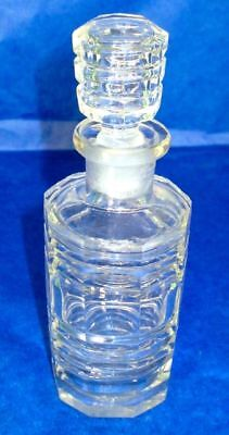 Perfume Bottle Antique Art Deco Bohemian Crystal Hand Cut Crystal