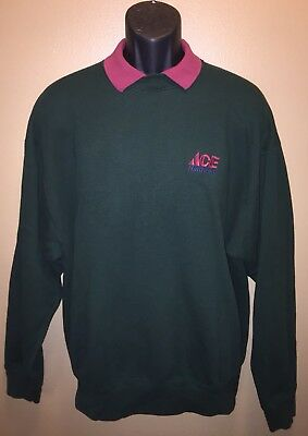 Vintage ACE HARDWARE 80s 90s Employee Collared 50/50 Sweatshirt Tools USA XL