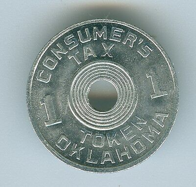 State Of Oklahoma 1 Mill Consumer Tax Token--Uncirculated