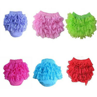 Cotton Lace Ruffle Bloomer and Underwear Nappy For Baby Girl