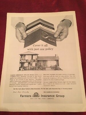 1961 Farmers insurance group vintage print Ad