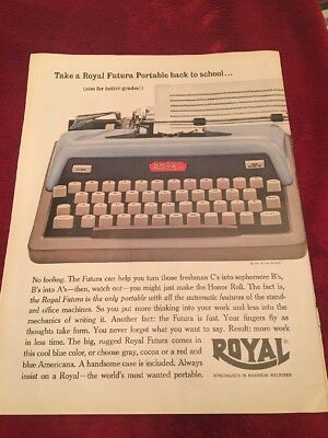 1961 Royal type writer vintage print Ad