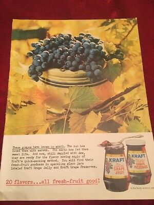 1961 Kraft grape jelly vintage print Ad