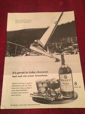 1961 Walkers bourbon whiskey vintage print Ad