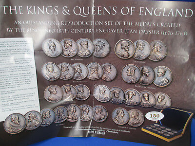 1676-1763 Limited Dassier Kings And Queens Of England Replica Collection Medals