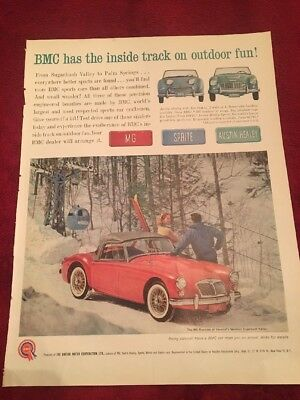 1961 British motor corporation vintage print Ad