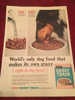 1961 Gravy Train dog food vintage print Ad