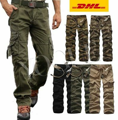 Herren Airborne Army Frachtschlauch Raw Cargohose Cargo Pants Hose Camouflage