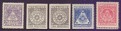 Philippines  1898/99  Issues by Revolutionary Government, MH.