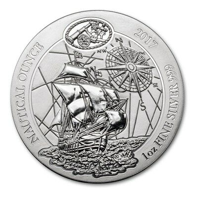 2017  Silver 1 oz. Rwanda Nautical Ounce Santa Maria