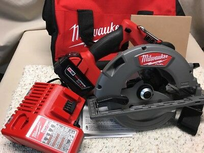 "Milwaukee•2731-21•M18 FUEL 18Volt•7-1/4"" Circular Saw•5.0Ah Battery•Charger•New!"