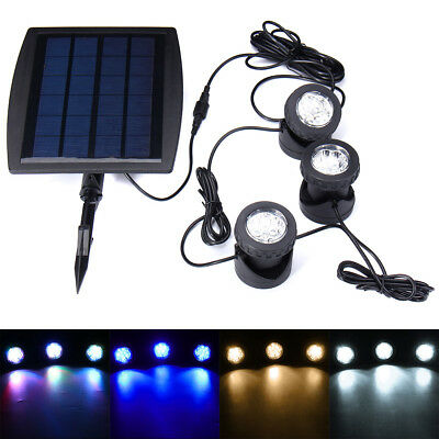 Solar 18 LED Underwater Spotlight Garden Outdoor Pool Pond Yard Swimming Light