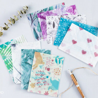 1 Bags of 3 Cute Flowers and Plants Handmade Envelope for Gifts Packaging