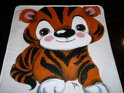 New Hand-painted Handmade Baby Nursery Decorative Pillow Cover Little Tiger