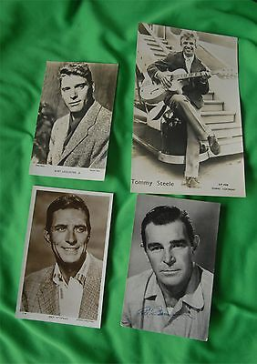 4 Old Photo's - Black & White -Rod Cameron - Burt Lancaster Jock Mahony. T Steel
