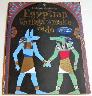 Egyptian Things To Make And Do 2009 by Emily Bone Usborne Activities NO STICKERS
