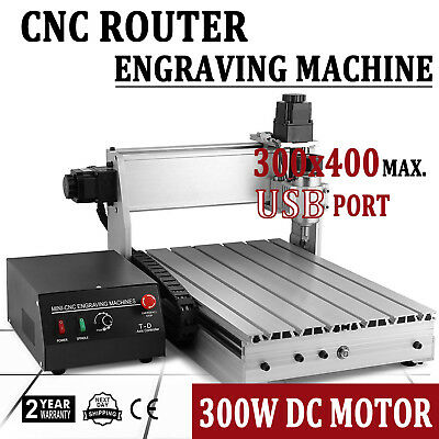 CNC Router 3Axis 3040 3D Cutter Engraving Drilling Machine USB Engraver T-Screw