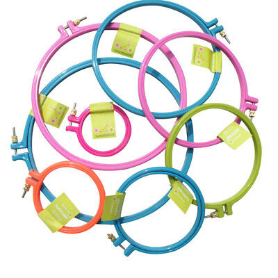 Plastic Frame Embroidery Hoop Circle Round Loop For CrossStitch Hand Tools