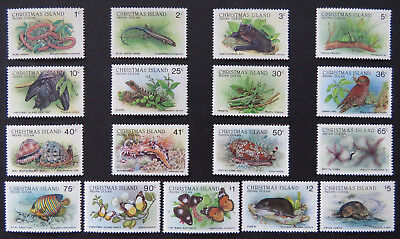 1987-1988 Christmas Island Stamps - Wildlife Definitives - Complete Set 17 MNH