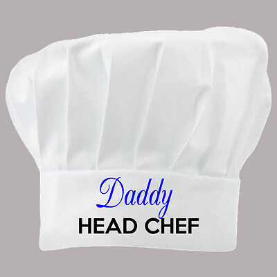 Printed Chefs Hat Personalised Gift Chef Mummy Daddy Nanny Any Text Name Company