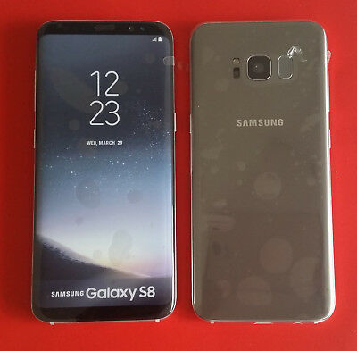 Samsung Galaxy S8 in Silber Handy Dummy Attrappe Requisit, Deko, Werbung, Muster