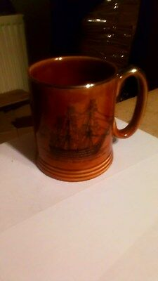 Lord Nelson Pottery Mug  HMS Victory 4 Inches High