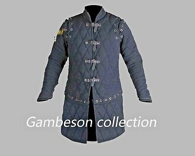 Get X-MAS gift Gambeson thick padded Medieval coat Aketon vest Jacket ArmourA1