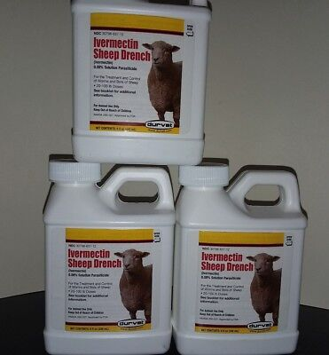 Ivermectin Sheep Drench 8 oz blow out sell exp 9/18 /  lot of 3 for 20 free ship