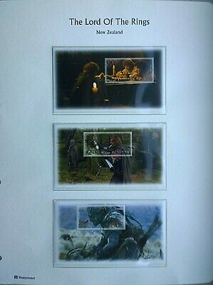 New Zealand Lord of the Rings & Two Towers Miniature Sheet Complete Sets MNH