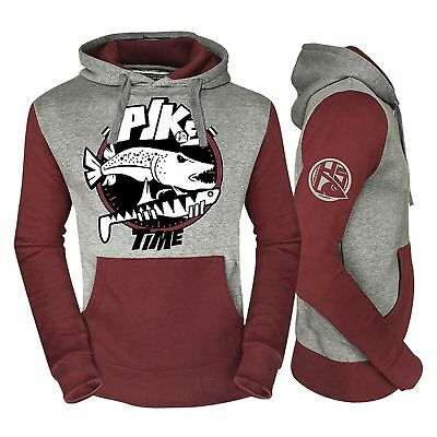 HotSpot Design Sweatshirt Pullover Sweat Fishing Time Pike Hechtangeln