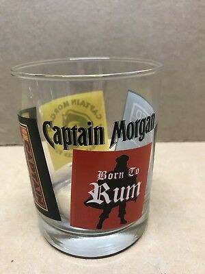 Captain Morgan Rum - Rocks Drinking Glass Great Graphics New Fast Shipping