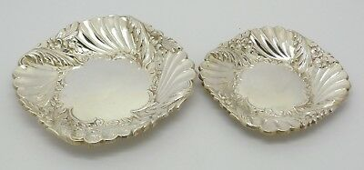 Beautiful Matching Pair Spanish 915 Solid Silver Pin Trinket Dishes Great Gift!