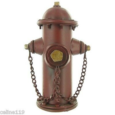 Vintage Firefighter Hydrant Metal Bank Fire Department Truck FDNY Mancave-Office