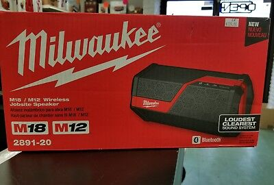 Milwaukee 2891-20 Jobsite Speaker M12 M18 Bluetooth