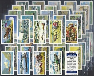 Brooke Bond-Full Set- Transport Through The Ages (50 Cards) - Exc