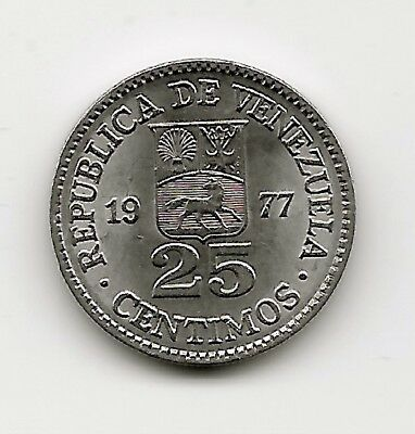 World Coins - Venezuela 25 Centimos 1977 Coin Y# 50
