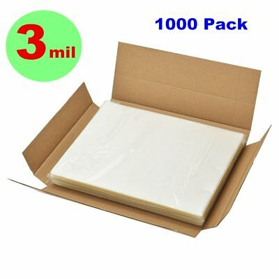 """3 Mil 1000 Pack Letter Size Clear Thermal Laminating Pouches 9"""" x 11.5"""" Sheets"""