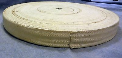 "VTG US Military M-2 Cotton Minefield Marking Tape White 500' X 1.5"" Wide 1955"