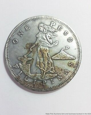 1903 Philippines One 1 Peso Silver Coin US 26.95 g Filipinas Eagle Shield